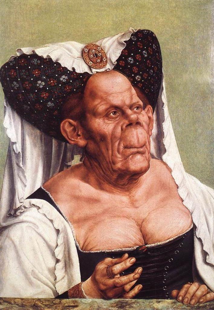Metsys. La duchesse laide ou vieille femme grotesque (v. 1513)