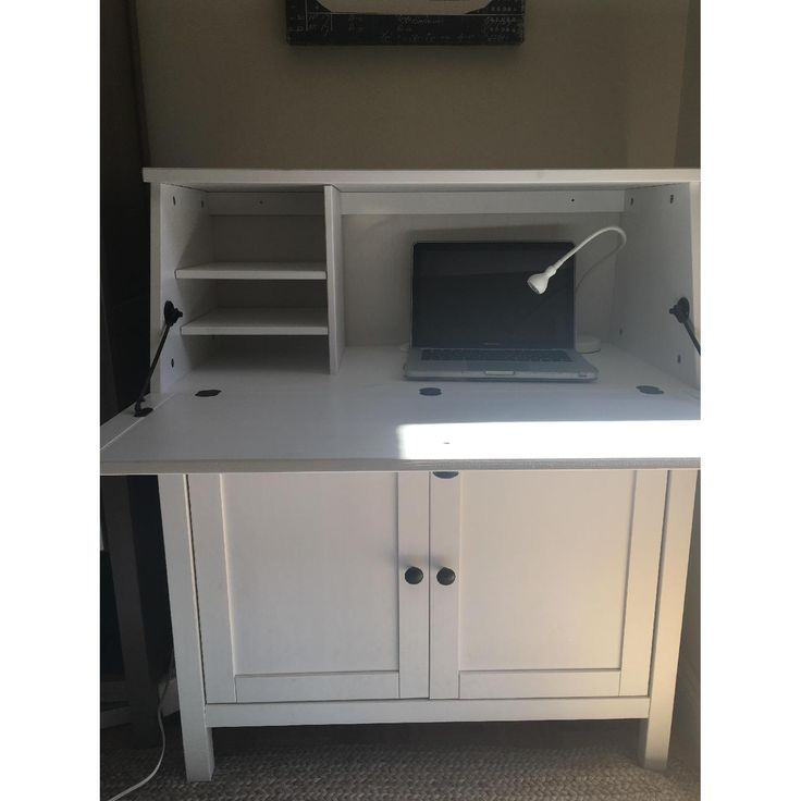 Ikea Hemnes White Secretary Desk-1
