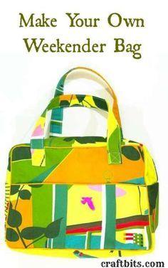 TUTO + PATROON - Make Your Own Weekender Bag. Deze lijkt me nog te doen voor beginner