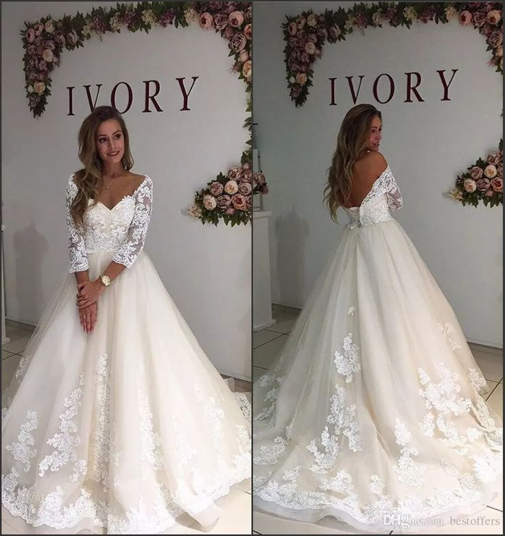 Wholesale gown wedding dresses, on sale wedding dresses and satin a line wedding dress on DHgate.com are fashion and cheap. The well-made new ivory lace wedding dresses 2017 long sleeve off the shoulder v neck a line with appliques bridal gowns vestido de novia custom sold by bestoffers is waiting for your attention.