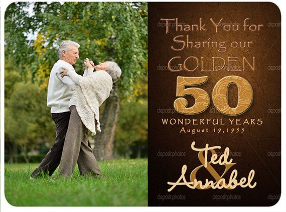 Save The Date 50th Golden Anniversary Magnet Photo
