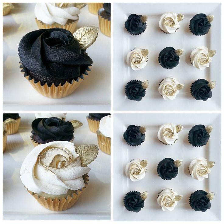 Black, White Cupcakes
