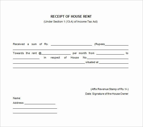 House Rent Receipt Template New House Rent Receipt Templates Receipt Of House Rent Receipt Template Invoice Template Free Receipt Template
