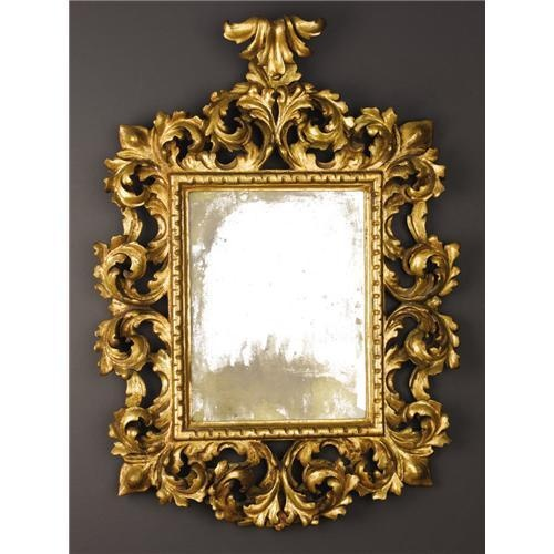 an italian baroque style carved gilt mirror baroque v
