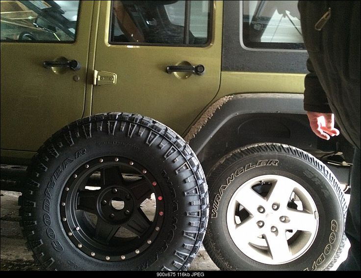 New Goodyear Duratrac 315x70/17 tires. Just a tad bigger ...