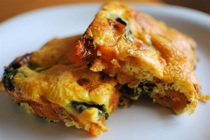 Sweet potato and spinach frittata. 1 Heathy Extra A plus 0.5 syn