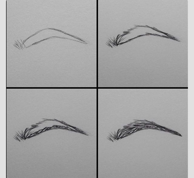 How to draw an eyebrow