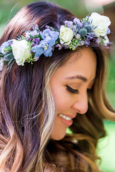 Lovely lavender bridal floral crown