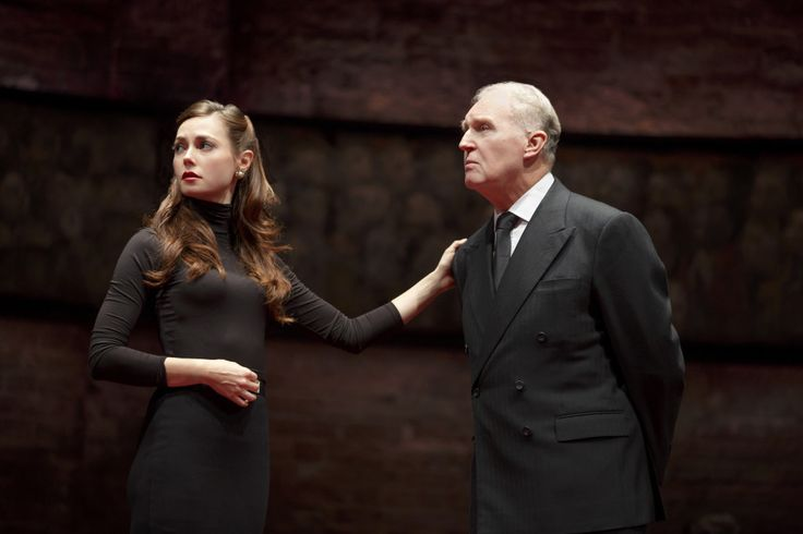 Lydia Wilson as Catherine-Duchess-of-Cambridge with-Tim Pigott-Smith as the King in Charles III
