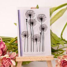 1 folha DIY Dandelion vela transparente claro selo carimbo de borracha de artesanato de papel Scrapbooking decoração(China (Mainland))