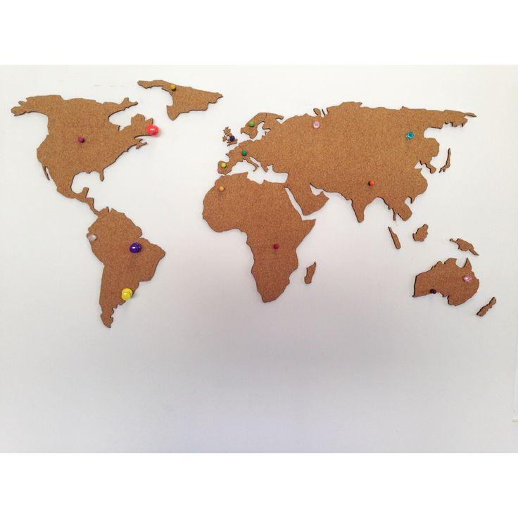Ya puedes hacer check in con chinchetas en nuestro mapa for Mapa del mundo decoracion