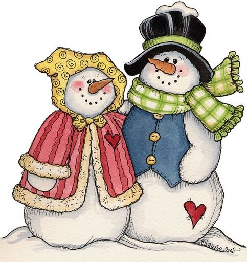 snow couple: