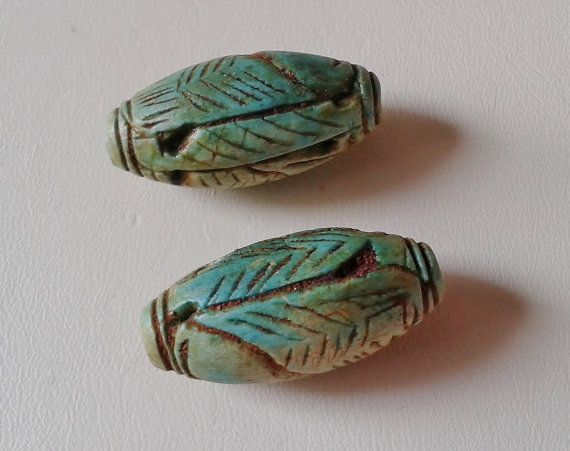 Hey, I found this really awesome Etsy listing at https://www.etsy.com/listing/234703570/pair-of-vintage-ancient-egyptian-faience