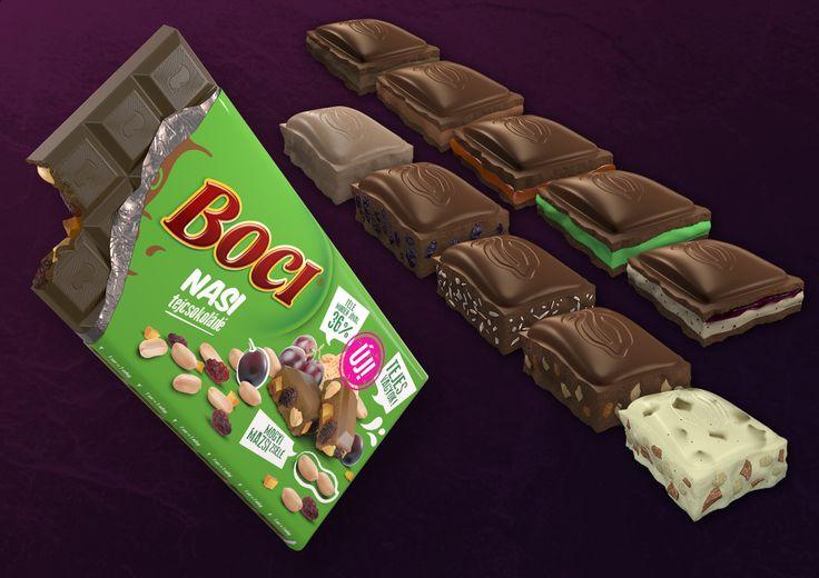 Boci Chocolate Package//Ionart Studio