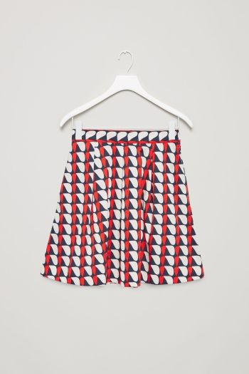 COS image 2 of Flared cotton skirt in Red