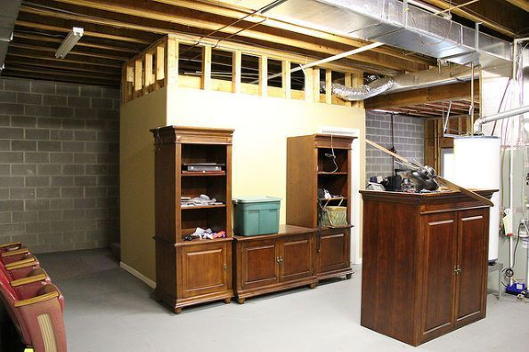 From An Unfinished Basement To The Ultimate Man Cave Basement Ideas Entertainmen Unfinished Basement Bedroom Unfinished Basement Basement Ceiling Ideas Cheap