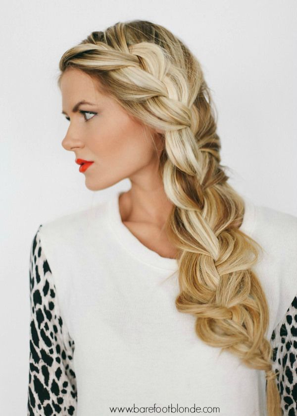 If you've got hair that rivals a mermaid's, this basket weave side braid hairstyle is for you.