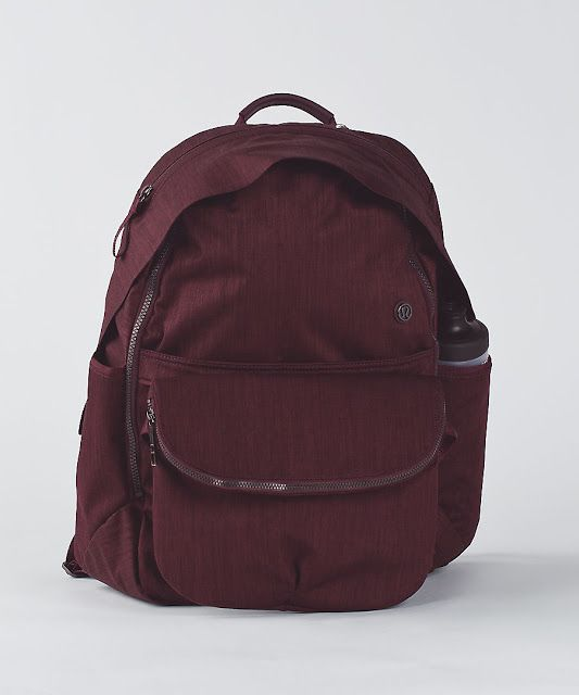 Lululemon All Day Backpack in bordeaux drama