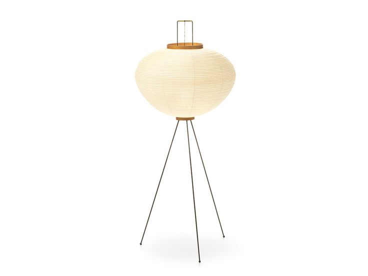 The iconic Akari lights were first designed in the early 1950s by American/Japanese artist Isamu Noguchi.