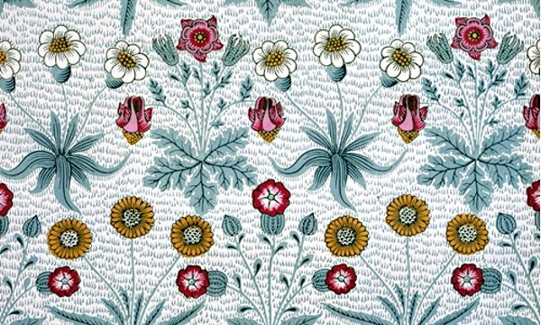 William Morris's Daisy wallpaper from 1862