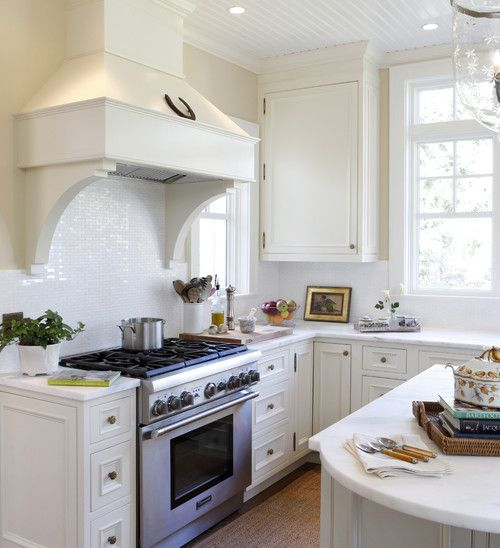 Designed All White Kitchen By Deborah Leamann Kitchens White Kitchen