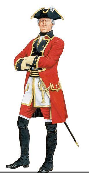 Russian artillery officer second half 1700 - 7 Years war
