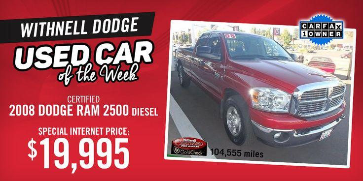 Withnell Dodge Used Car of the Week - 2008 Dodge Ram 2500 SLT Truck Quad Cab in Salem, Oregon!