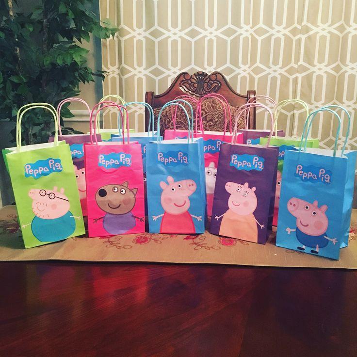 Peppa Pig Goodie Bags #brookes2ndbirthday