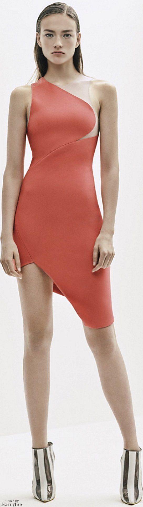 @roressclothes closet ideas #women fashion red asymetric dress