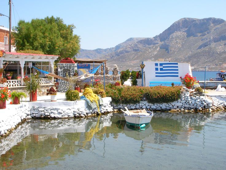 Tiny house with a private harbour on Telendos, day trip from Kos