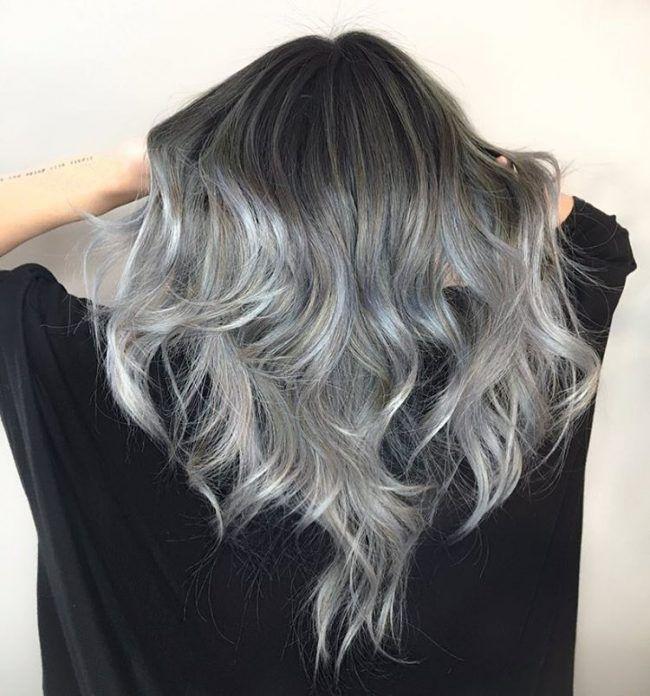 Модные серые волосы (50 фото) — Как подобрать оттенок под цвет глаз