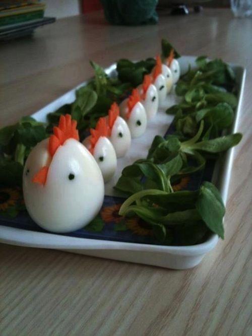 Chicken of boiled egg.
