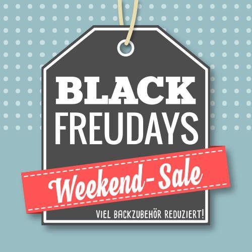 +++ BLACK FREUDAYS das gesamte Wochenende! +++  Angebote bieten wir Euch nicht nur am heutigen SALE-FRIDAY. Das gesamte Wochenende über könnt Ihr ausgesuchtes Backzubehör und Backzutaten zum stark reduzierten Preis bei uns im Shop erwerben. Schaut einfach unter www.meincupcake.de/shop/specials.php vorbei, durchstöbert die atrraktiven Angebote und greift schnell zu!