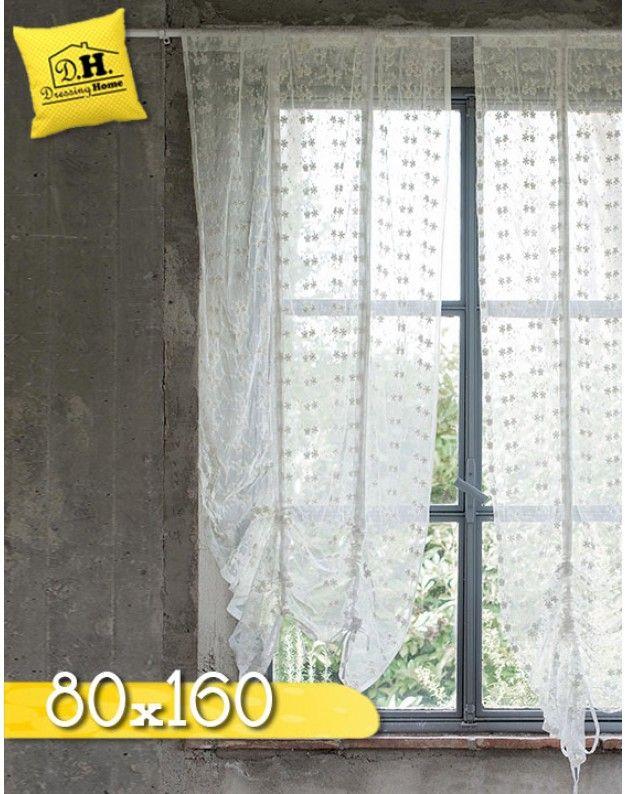 Tenda finestra shabby chic New Crema Collection Blanc Mariclo 80 x 160 cm Colore Off White