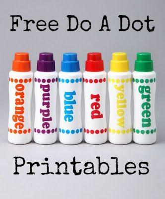 Free Do A Dot Marker Printables