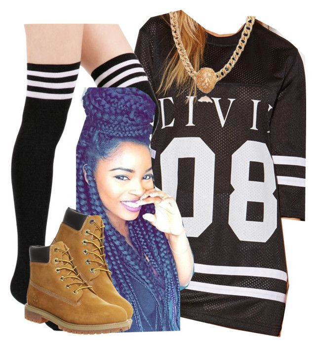 """""""The Trill Dolls Performance (Ariana outfit)"""" by trillest-queen ❤ liked on Polyvore featuring moda, Forever 21 e Timberland"""