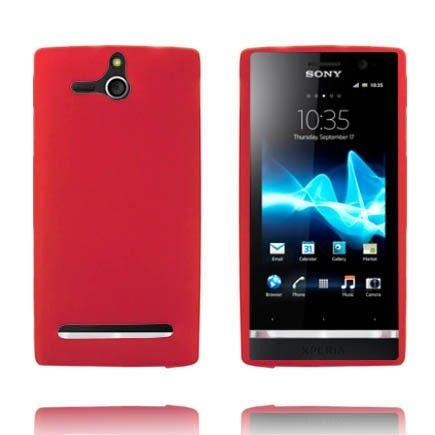 Mjukskal - Matt (Röd) Sony Xperia U-Skydd