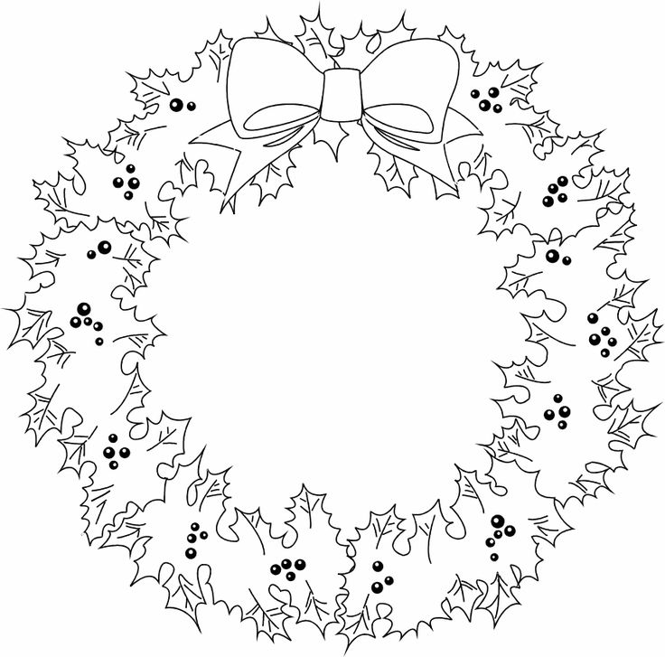 Wreath - christmas coloring