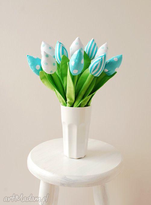 Bawełniane tulipany dekoracje jobuko kwiatki kwiaty materiałowe