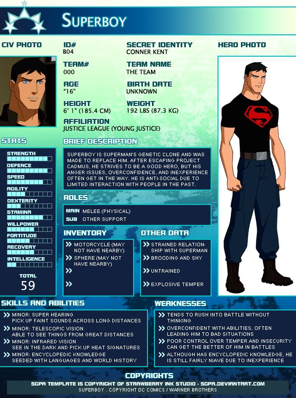 February 19, 2012 I thought this would be fun to do and show everybody! Here is Kid Flash from Young Justice adapted into an SGPA Template as an example! I have no idea about the actual height and ...