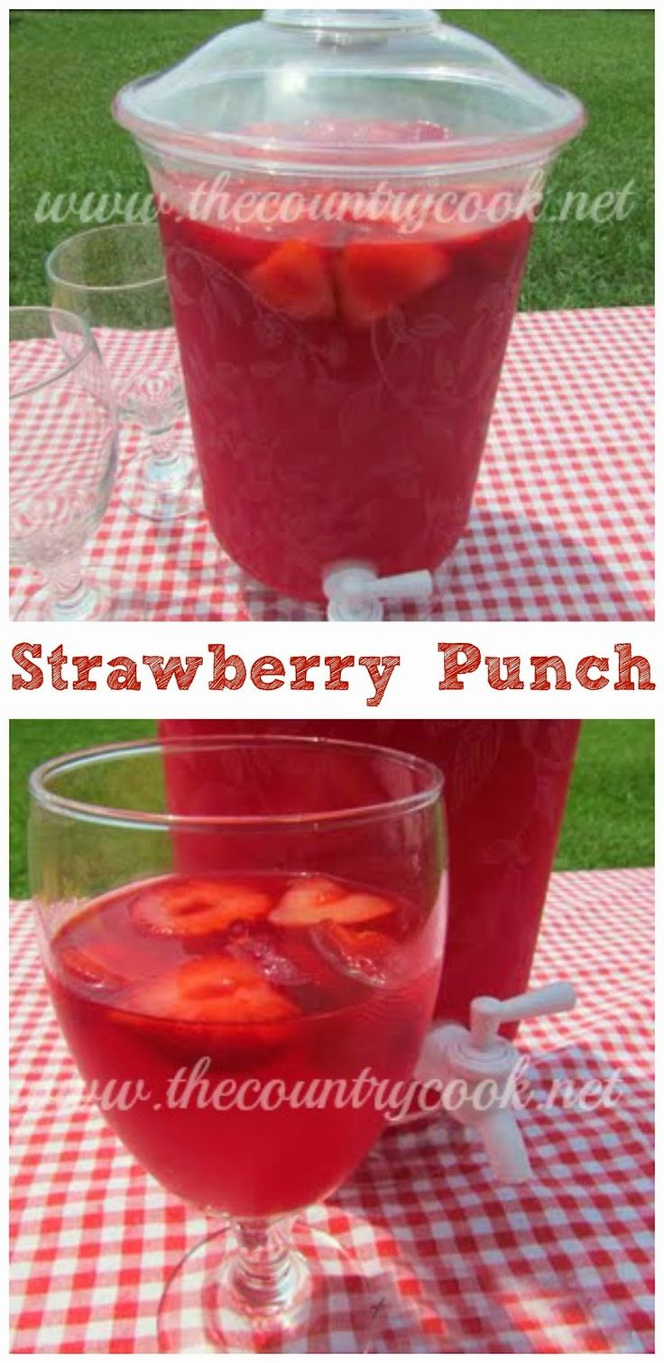 Sparkling Strawberry Punch...sounds SO refreshing!!