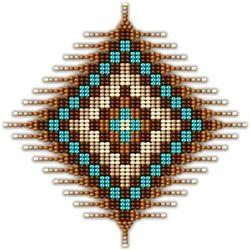Native Style Brown Sunburst