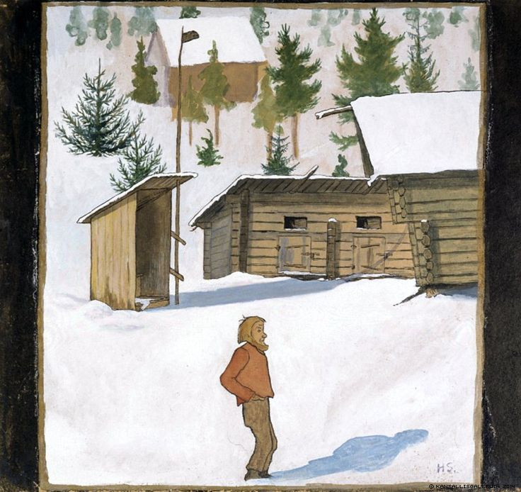 Hugo Simberg (1873-1917) Talvi / Winter - Finland