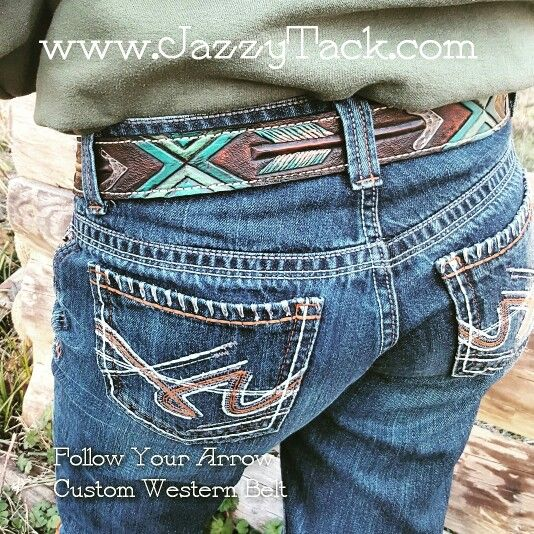 Follow Your Arrow Custom Western Belt