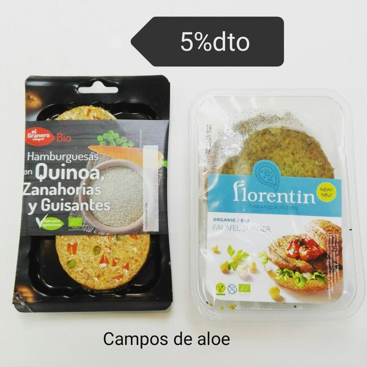 Nuevas #hamburguesas #biologicas con un 5% de descuento.  www.camposdealoe.es