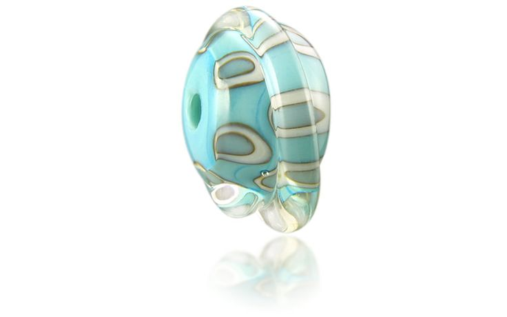 Croyde Nalu Bead inspired by its rippled sands and barrelling low tide waves http://www.nalubeads.com/uk-series/devon-breaks/croyde