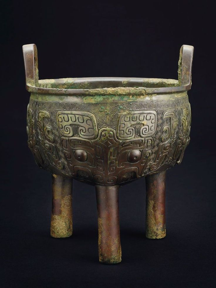 ANTIQUE CHINESE BRONZE GU Archaic Wine Vessel Old and