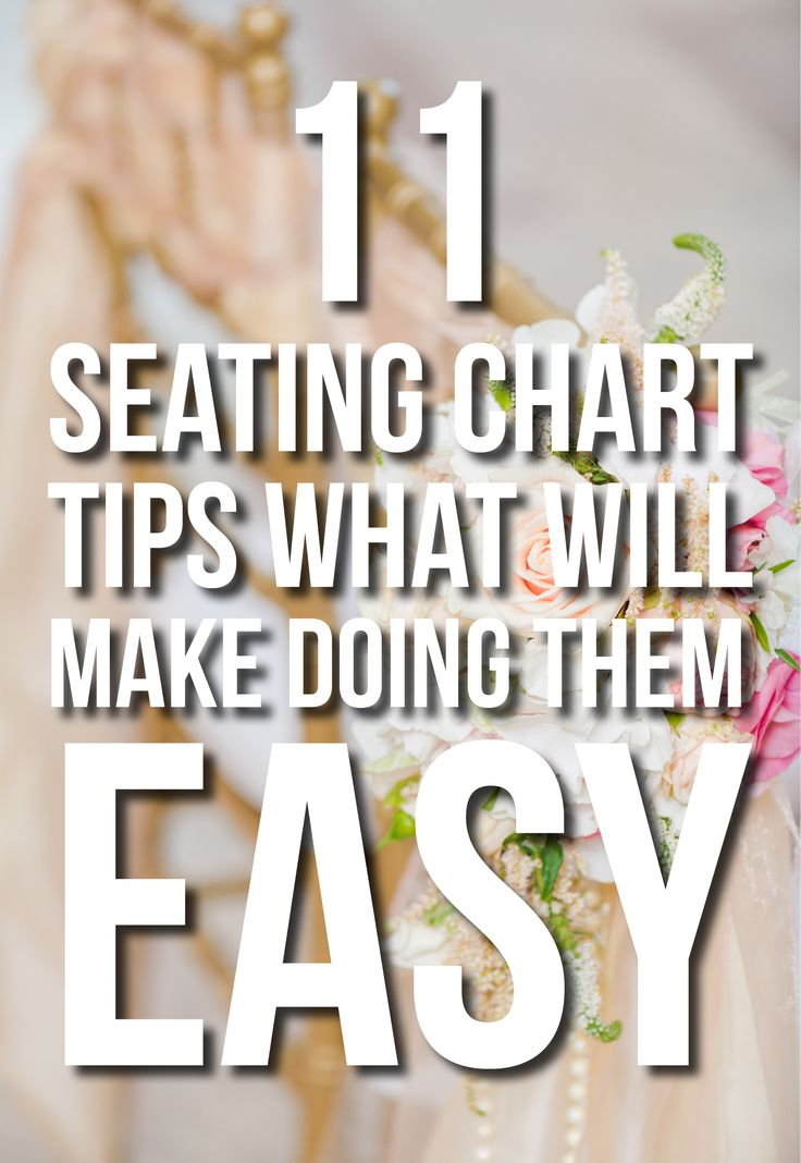 Ahh - great tips for doing the seating chart