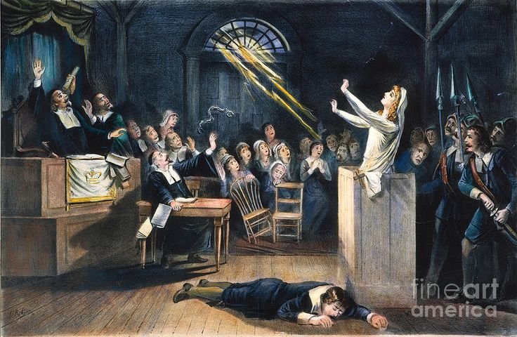 Witchcraft Paintings Salem Witch Trial 1692 Photograph