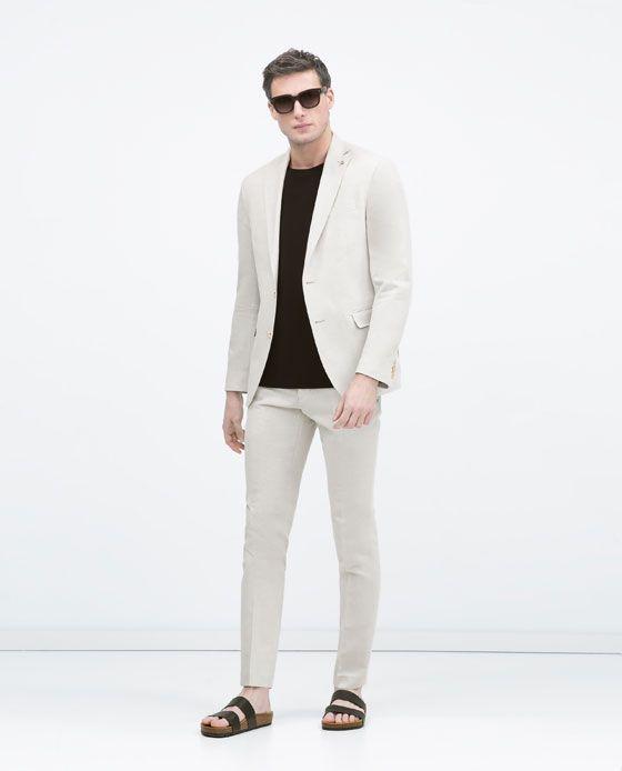 Cotton-ramie suit